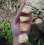 ORANGE CALCITE Raw Natural Crystal for Happiness, Relieve Depression & Anxiety
