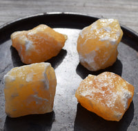 ORANGE CALCITE Raw Natural Crystal Chunk - Happiness & Good Vibes