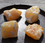 ORANGE CALCITE Raw Natural Crystal Chunk - Happiness & Good Vibes Stone