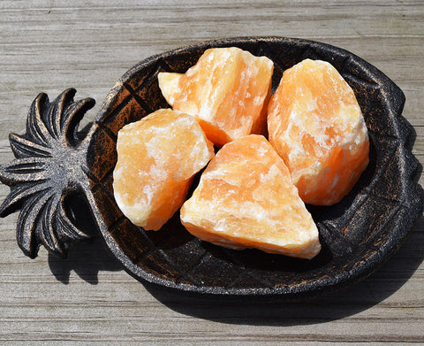 ORANGE CALCITE RAW Happiness & Good Vibes Stone