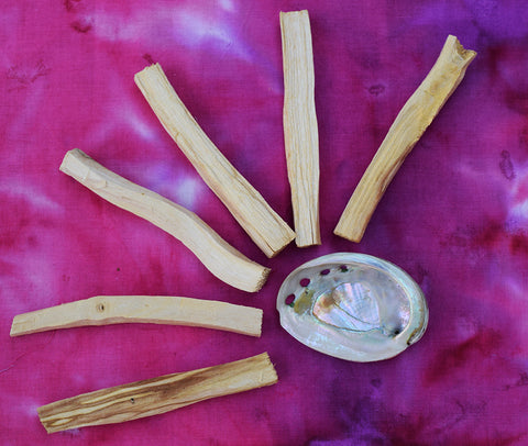 Palo Santo Stick Incense Set with Abalone Shell