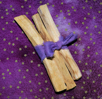 "PALO SANTO STICKS - 3 pack of Sacred ""Holy Wood"" Palo Santo Wood"