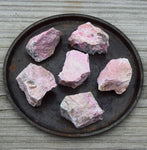 RHODONITE Raw Crystal - Self Love & Forgiveness Stone, Heart Chakra Crystal