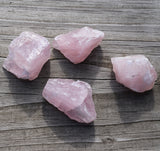 ROSE QUARTZ Raw Crystal of Unconditional Love, Self Love, Self Care, Heart Chakra