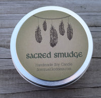 SACRED SMUDGE SET - Energy Clearing Candle & Spray - Alternative to Smudging Burning Sage