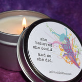 She Believed She Could And So She Did Candle
