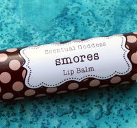 SMORES Lip Balm, Chocolate Graham Cracker Marshmallow S'mores Flavored Chapstick