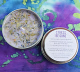 STRESS BE GONE Intention Candle - Relieve Stress and Anxiety, Relax Your Mind & Create Peace