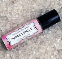 SUNTAN LOTION Perfume Oil - Smell like a Beach Goddess year round! Coconut Tanning Lotion Type Scent