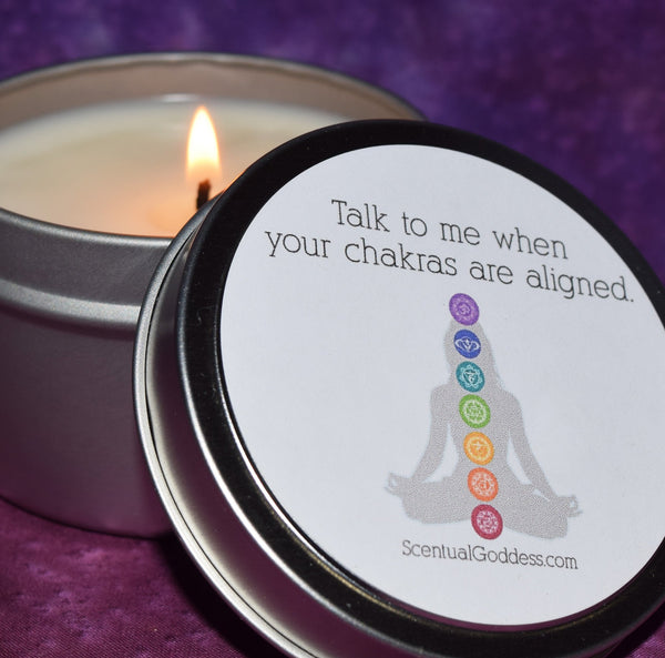 Talk To Me When Your Chakras Are Aligned - Funny Candle