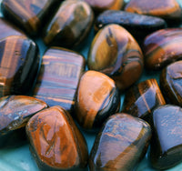 TIGER EYE Stone - Ancient Celtic Symbol of Wealth Luck & Protection Against The Evil Eye Tigereye