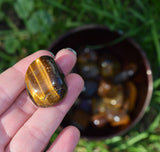 TIGER EYE Stone - Gold Tigereye Celtic Symbol of Protection, Luck & Success