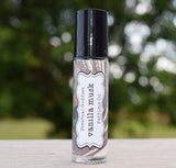 VANILLA MUSK Perfume Oil - Incredibly Sexy Sweet Creamy Musk Scent - Peacock Feather Label