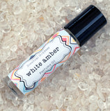 WHITE AMBER Perfume Oil - Earthy Amber Sweetened with Creamy Vanilla