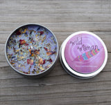 Wild Woman Candle - Dried Flowers & Herbs and Glitter, Mystic Spice Scent - Celebrate Your Free Spirited, Wild Side!