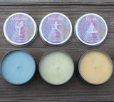 YogiLights Candle Set - Aromatherapy Candles for the Yoga Lover - Balance, Breathe, Focus
