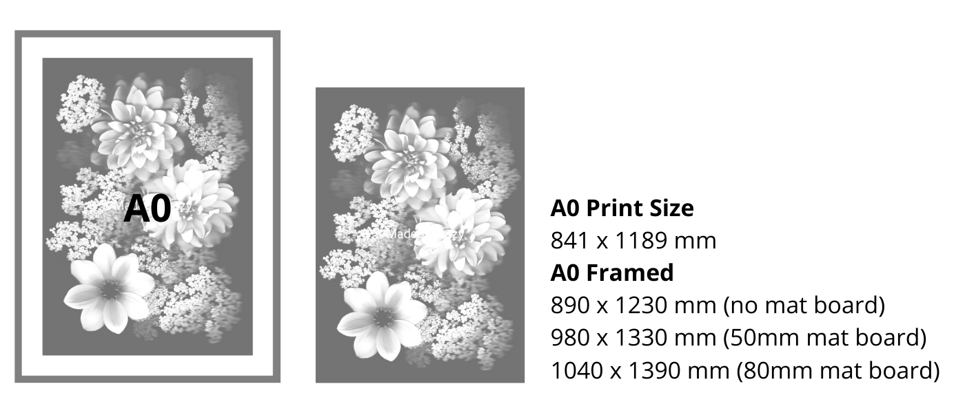 A0 Size Guide