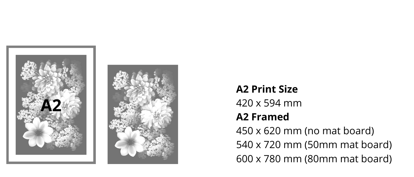 A2 Size Guide