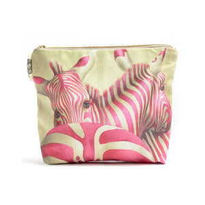 Pink Zebra Cosmetic Bag Small