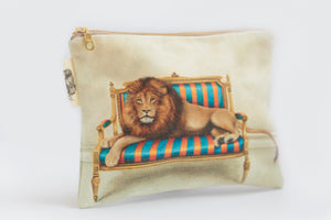 Lion Small Zip Bag