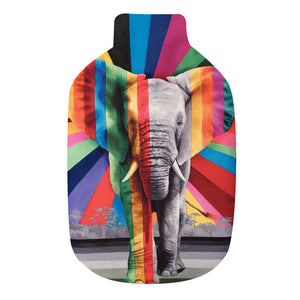 Wildlife In Colour: Elephant Hot Water Bottle Cover & Rubber Bottle