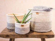 Load image into Gallery viewer, ITALE: Grey Colour Block Woven Basket