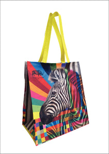 Wild Life in Colour: Zebra Shopper Bag