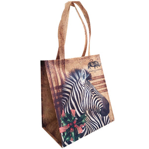 Golden Christmas: Zebra Shopper Bag