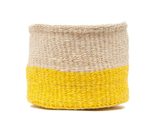 Load image into Gallery viewer, ALIZETI : Yellow Colour Block Woven Basket