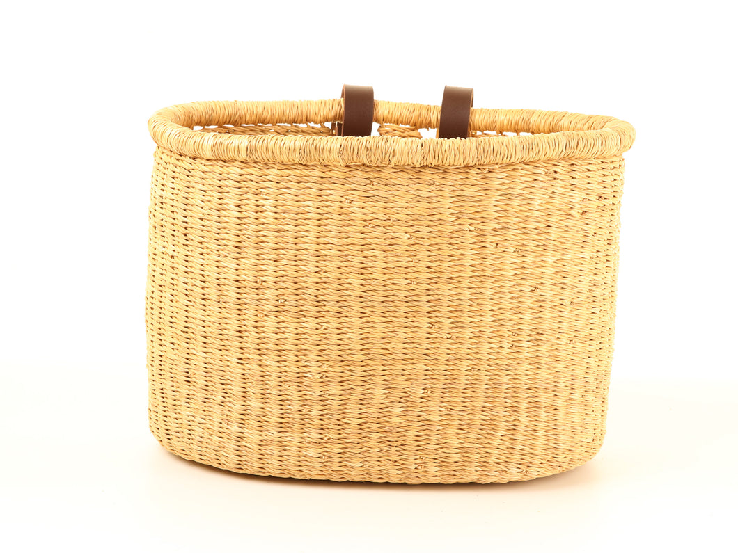 BULI : Handcrafted Natural Oblong Bike Basket