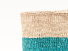 Load image into Gallery viewer, LAZIMA: Turquoise Colour Block Woven Basket