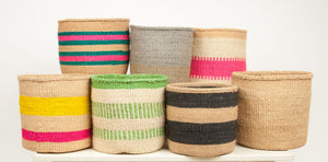 MBILI : Two Tone Woven Storage Basket
