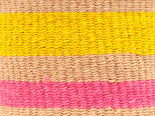 Load image into Gallery viewer, MAZAO: Fluoro Pink and Yellow Woven Storage Basket