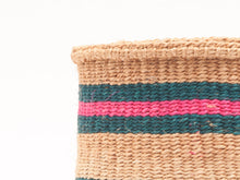 Load image into Gallery viewer, NDOTO: Turquoise, Pink and Sand Woven Storage Basket