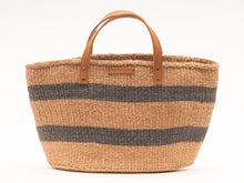 Load image into Gallery viewer, MCHANA: Black Stripes Shopper and Picnic Bag