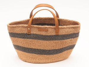 MCHANA: Black Stripes Shopper and Picnic Bag