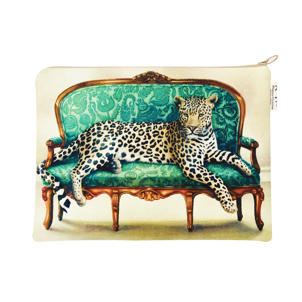 Wildlife At Leisure: Leopard Laptop Bag