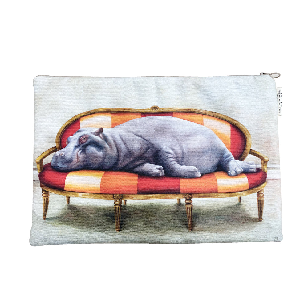 Wildlife At Leisure: Hippo Laptop Bag