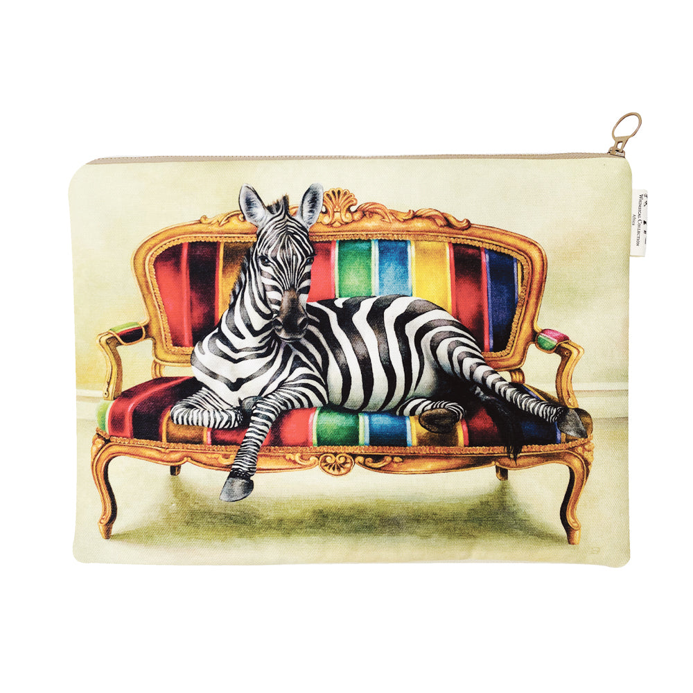 Wildlife At Leisure: Zebra Laptop Bag