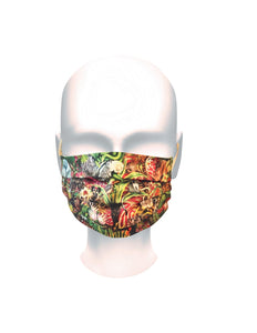 African Jungle Pleated Face Mask