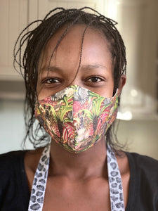 African Jungle Face Mask