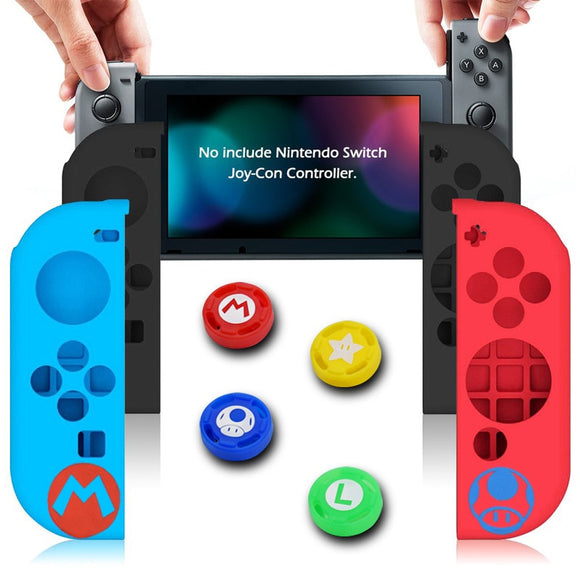 Silicone Joycon Cover for Nintend Switch Antislip Rubber Skin Case Protective Thumb Grip Caps for Nintendo Switch Controller