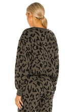 Load image into Gallery viewer, STRUT THIS SONOMA SWEATSHIRT- OLIVE CHEETAH