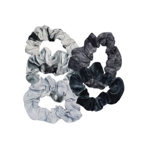 KITSCH 5-PACK SCRUNCHIES - SLATE