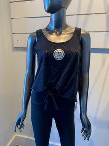 PHEEL x PURE BARRE MESH TIE UP TANK