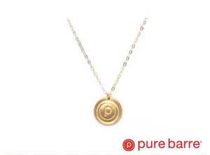 "16"" GOLD CIRCLE P NECKLACE BY OXB"