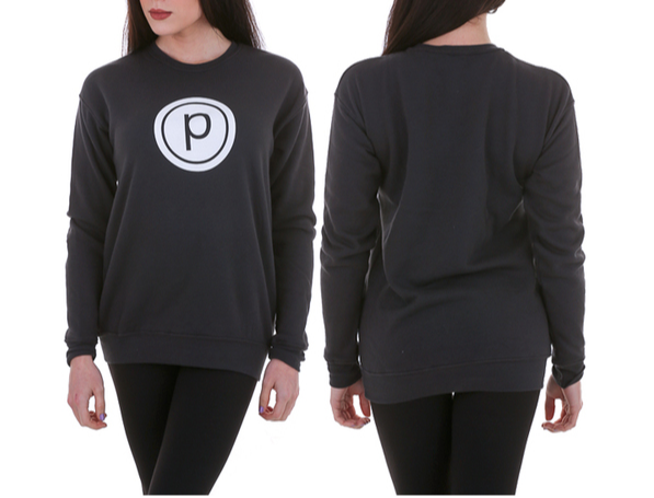 DROP SHOULDER CIRCLE P FLEECE SWEATSHIRT