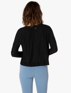 BEYOND YOGA CROPPED SPACEDYE PULLOVER