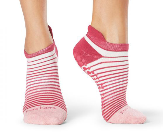PINK STRIPE STICKY SOCKS