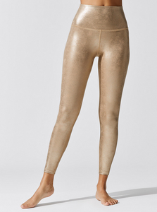 BEYOND YOGA LUXE LEATHERETTE HIGH WAISTED MIDI LEGGING